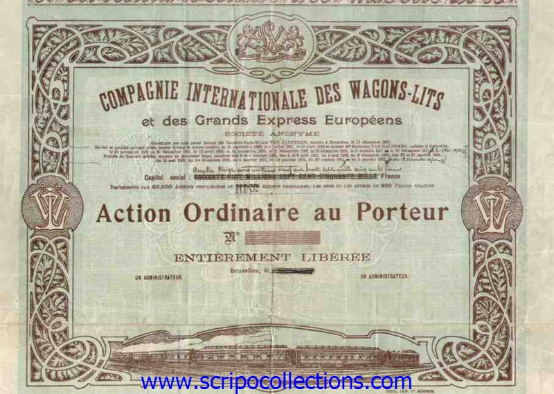Scripocollections - Compagnie des wagons lits recrutement ...